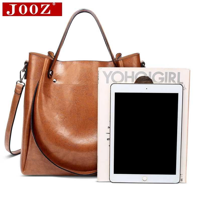 44f04123f0d8 ... Fashion luxury Women messenger bag large capacity simple Office Lady  bag Oil wax Women s Leather Handbags ...