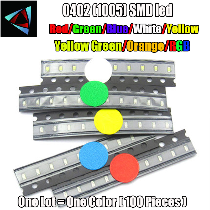 Enthusiastic 5 Colors X100pcs =500pcs New 5mm Round Super Bright Led Red/green/blue/yellow/white/ Water Clear Led Light Diode Kit Electronic Components & Supplies