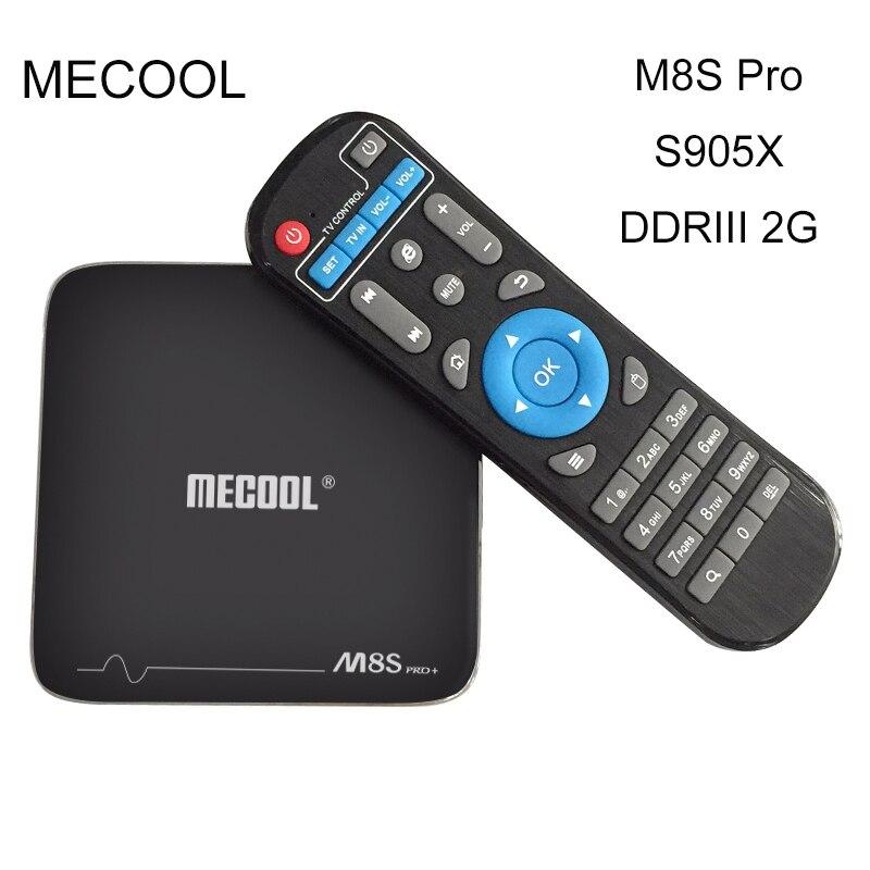 MECOOL Mini M8S Pro Android 7.1 TV Box Amlogic S905X Quad Core 64Bit Ram 2G ROM 16G 4K HDMI 3D 2.4G WiFi Set Top Box M8S Pro+ mini m8s pro tv box