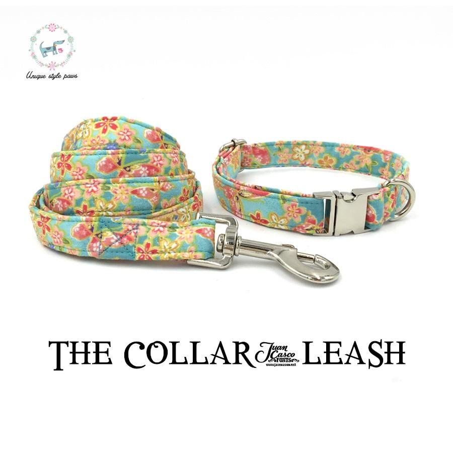 Die sanfte brise hund oder katze halskette set und pet leine persönliche kundenspezifischen haustier pupply designer produkt hund & katze kragen XS-XL