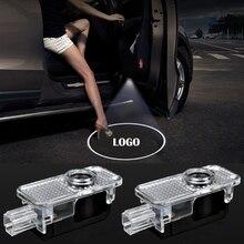 цена на 2pcs Car Styling Courtesy Light For Volkswagen VW Passat B5 B5.5 Phaeton LED Car Door Light Ghost Shadow Light Laser Projector