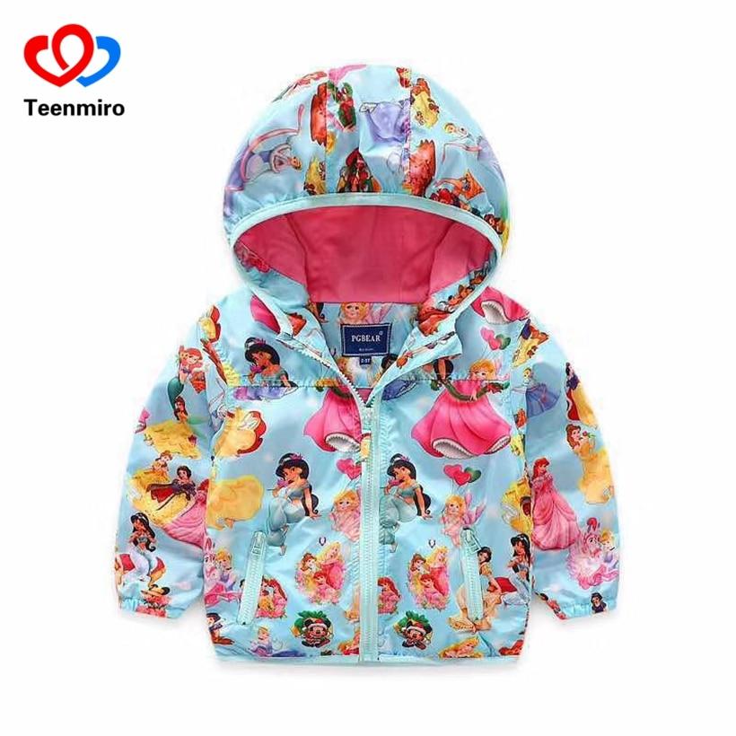 Kids Jackets For Girls Sofia Windbreaker Children Jacket Rapunzel Princess Coat Baby Girl Windbreaker Children Outerwear