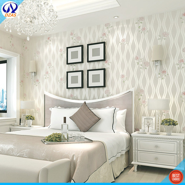 US $37.85 |Beige Elegante piacevole soggiorno camera da letto pastorale  Fresco bordo dorato grande fiore navata sfondo DZAS CJ parete carta da  parati ...