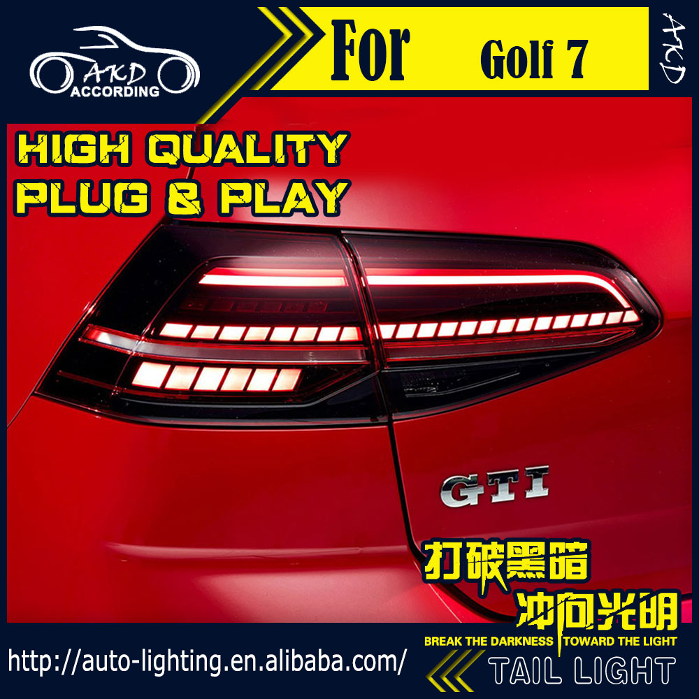 AKD Car Styling <font><b>Tail</b></font> Lamp for VW <font><b>Golf</b></font> 7 <font><b>Tail</b></font> <font><b>Lights</b></font> Upgrade for <font><b>Golf</b></font> 7.5 <font><b>LED</b></font> <font><b>Tail</b></font> <font><b>Light</b></font> Dynamic Signal DRL Rear Lamp Accessories image