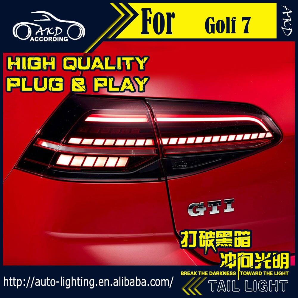 AKD voiture style feu arrière pour VW Golf 7 feux arrière mise à niveau pour Golf 7.5 feu arrière LED Signal dynamique DRL feux arrière accessoires