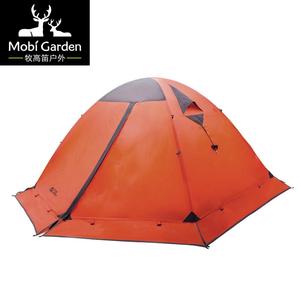 Tente d'alpinisme professionnelle en plein air classique double couche quatre saisons tente 2 plus