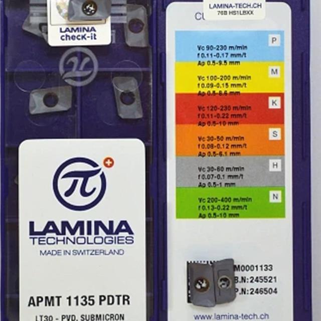 10 個 APMT1135PDTR LT30 ラミナオリジナル CNC ブレード超硬インサート BAP300R ためフライスカッタープレートツールホルダー