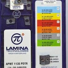 10PCS APMT1135PDTR LT30 LAMINA מקורי CNC להב קרביד הכנס כרסום חותך צלחת כלי עבור BAP300R מחזיק