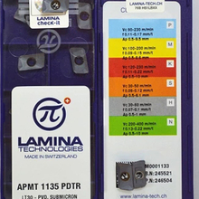 10PCS APMT1135PDTR LT30 LAMINA Original CNC Blade Carbide Insert Milling Cutter Plate Tool for BAP300R Holder