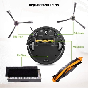 Image 3 - Top Sale Accessories Kit Compatible for ECOVACS DEEBOT 901 900 Robotic Vacuum, 6 Filter + 2 Set Brush + 1 Main Brush