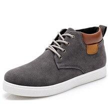 Мужчины Повседневная Обувь Хлопок Весна Осень Новое Прибытие босоножки Высокий Стиль Молодежи Лодыжки Человек Плоским Обуви Высокой Моды