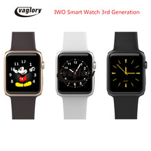 New IWO 3 Smartwatch IWO 2 Upgrade Smart watch MTK2502C Bluetooth for Apple IOS Android Support WhatsApp facebook Heart Rate