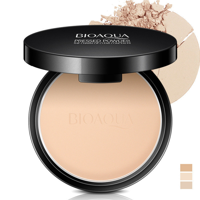 Matte Pressed Powder Makeup Concealer Oil-control Face Setting Foundation Facial Make Up Mineral Compact Powder Cosmetics 1