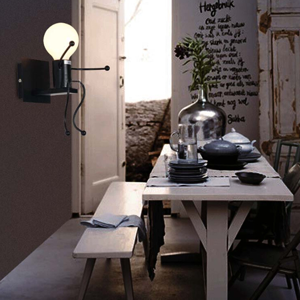 ФОТО Creative Personality Simple Modern Living Room Bedroom Bedside Lamp Art Wall Light Aisle Corridor Children Room Wall Lamp
