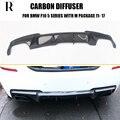 F10 V Стиль углеродного волокна задний бампер диффузор для BMW F10 520i 528i 530i 535i 520d 525d 530d 535d M-tech Бампер 2011-2017
