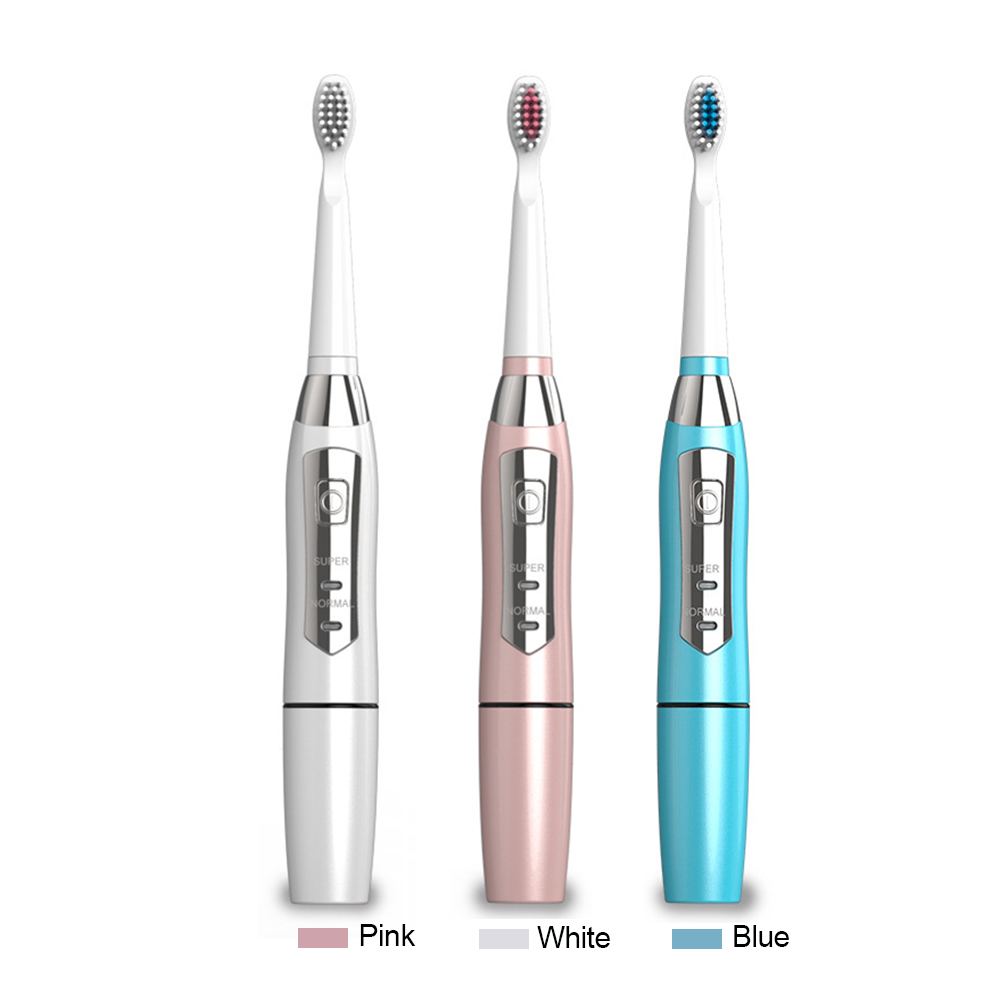 Seago Sonic Electric Toothbrush With 3 Soft Brush Heads 2 Brushing Modes Automatic Brush Teeth Battery Operated Teeth Whitening touchbeauty 3 in1 rotating facial cleansing brush set with 3 replacement brush heads 2 speed settings with storage box tb 0759a