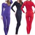2017 Autumn spring style plus size 6XL High elastic modal Long Johns Women pajamas suits