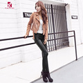 2016 Autumn Winter Women Leggings PU Leather Pants Black Fashion Show Thin Sexy Slim Women Leggings Skinny Pants CNDK003