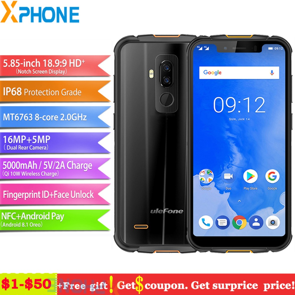Ulefone Armor 5 Phone 4GB 64GB Android 8 1 5 85 Octa Core Wireless Charge 4G