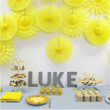 5pcs/Lot 12 Inch 30cm Honeycomb Tissue Paper Fans Wedding Birthday Party Decorations Kids Event Party Supplies Baby Shower