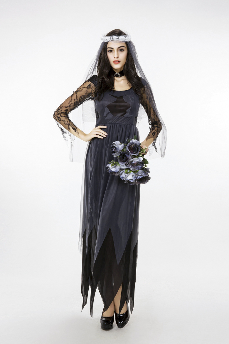 dde9b87a1d Purim Carnival costumes Women Ghost Dead Bride Cosplay Costume Adult Party  Fancy Dress Outfit for Halloween party event on Aliexpress.com | Alibaba ...