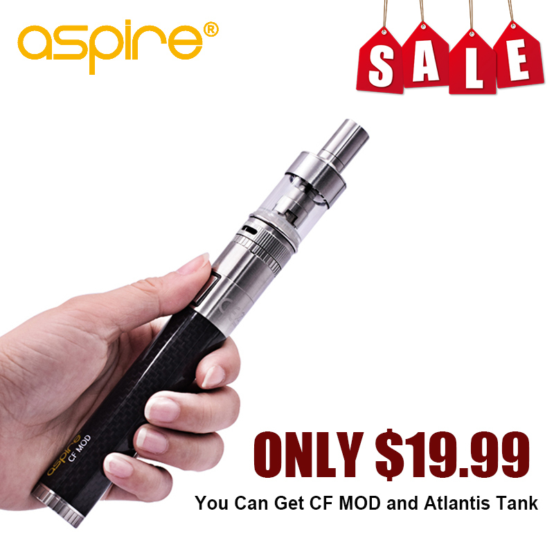 цена Special Offer E Cig Vape Starter Kit Aspire CF Mod with Atlantis Tank Electronic Cigarette Hookah Pen without 18650 Battery Cell