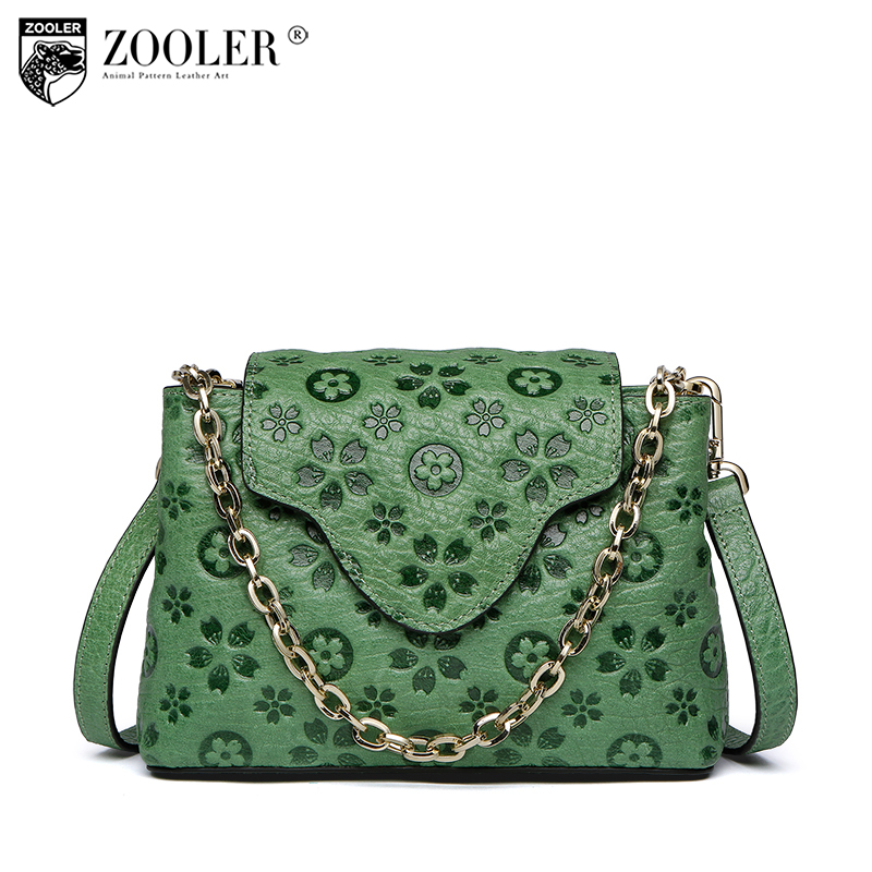 ZOOLER 2018 Fashion Women Genuine Leather Shoulder Bags Handbags Women Famous Brands Chains Evening Day Clutches Messenger Bag zooler fashion chains high quality genuine leather bags handbags women famous brand ladies cowhide messenger shoulder bag bolsas