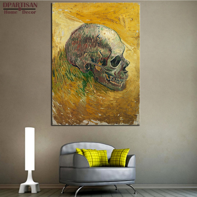 DPARTISAN Vincent Van Gogh Schedel decor Giclee wall Art Canvas ...