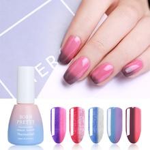 NACIDO PRETTY 10ML 22 colores térmica Shimmer Glitter Gel temperatura cambio de color Nail Art Empapa del UV Gel Nail Lacquer