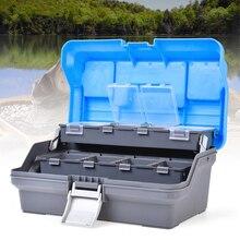 Waterproof 3 Layer Fishing Tackle Box Fly Fishing Storage Ca