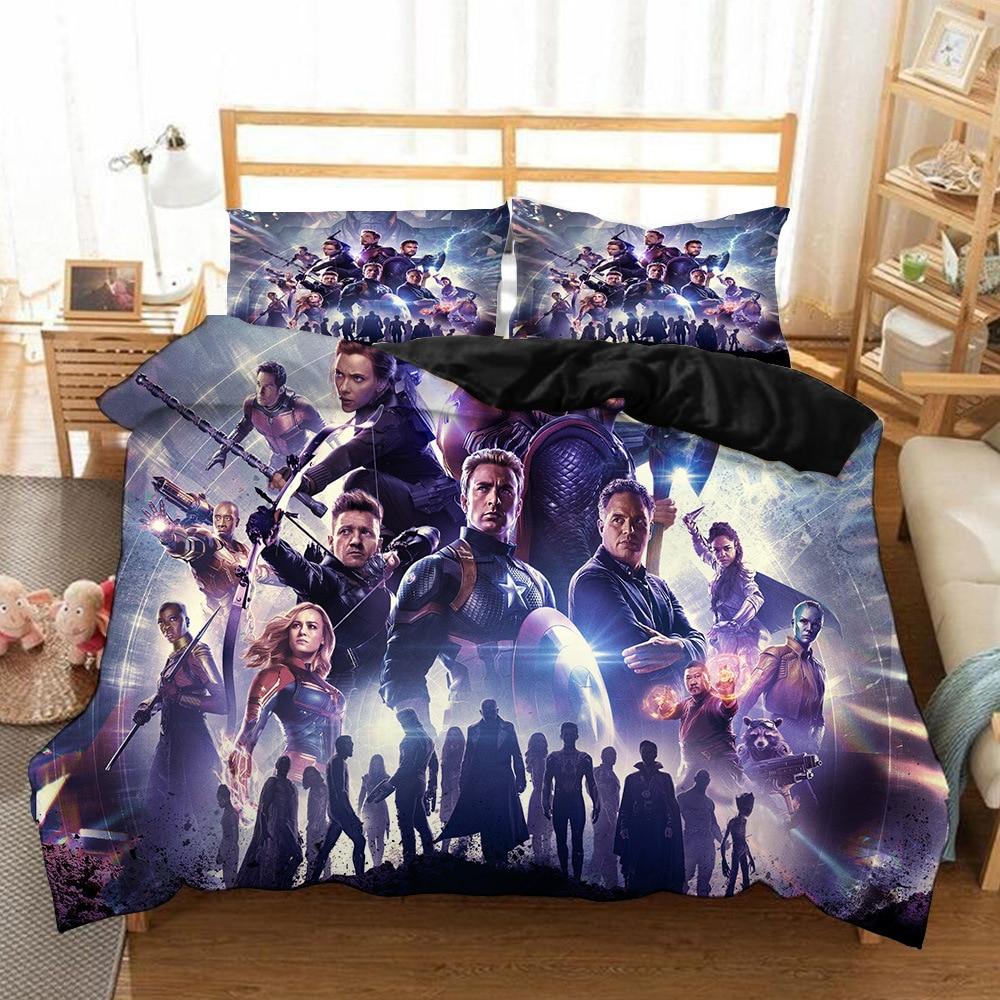 Marvel Avengers Alliance 3D Thanos Bedding Set Iron Man The Captain America Thor The Incredible Hulk Comforter Bedding Sets