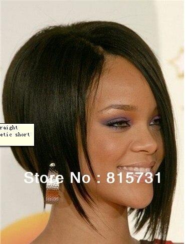 Guaranteed 130 Density 100 India Remy Hair Rihanna Short Straigth