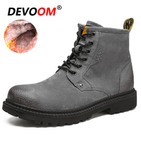 New Dottor Martins Men Boots Shoes Suede Leather Men Boots Fur Winter Shoes Bota Masculina Fashion Motorcycle Black Boots 2018