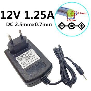 12V 1,25a 1250mA US EU UK AU, enchufe AC 100-240V a DC 12V 1,25a 2,5mm x 0,7mm, Adaptador convertidor de fuente de alimentación