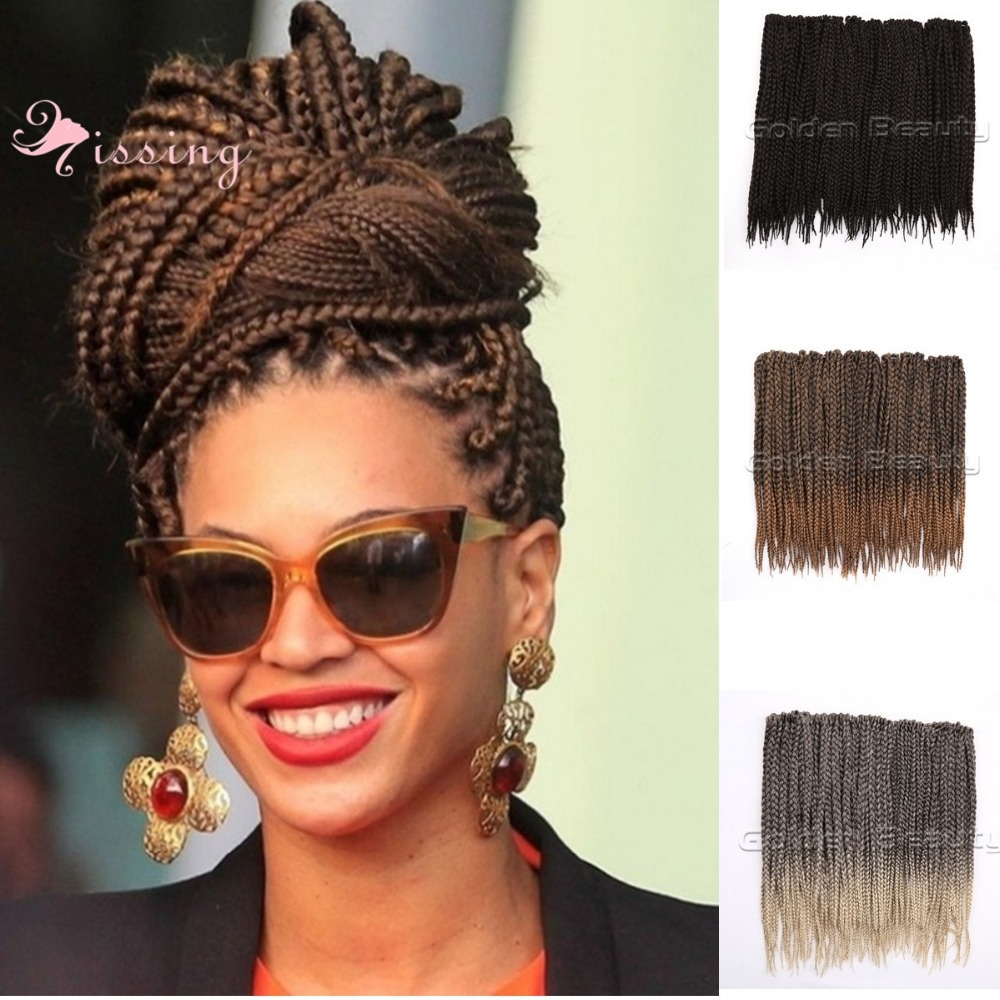 Crochet Box Braids Ombre : 18inches Ombre Color Box Braid Synthetic Hair Medium Length aliexpress ...