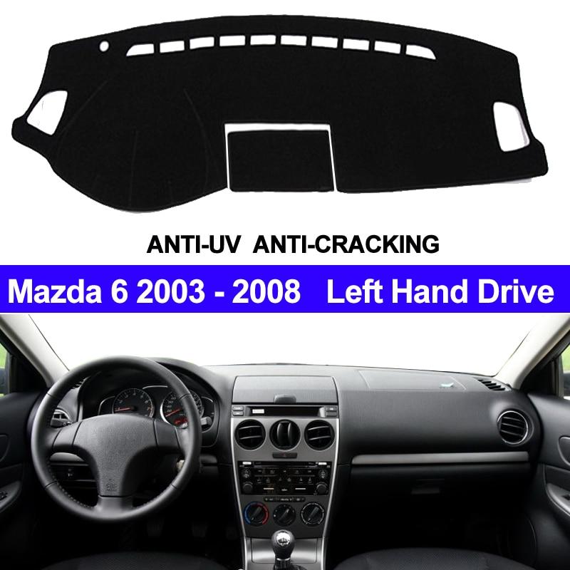 TAIJS Car Dashboard Cover Dash Mat For Mazda 6 2003 2004 2005 2006 2007 2008 Non-slip Sun Shade Auto Dash Mat Pad Carpet Anti-UV