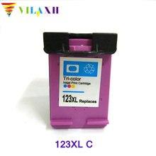 1pcs Tri-color For HP 123 xl Ink cartridge for hp Deskjet 2130 1110 1111 1112 2132 3630 3632 Printer ink