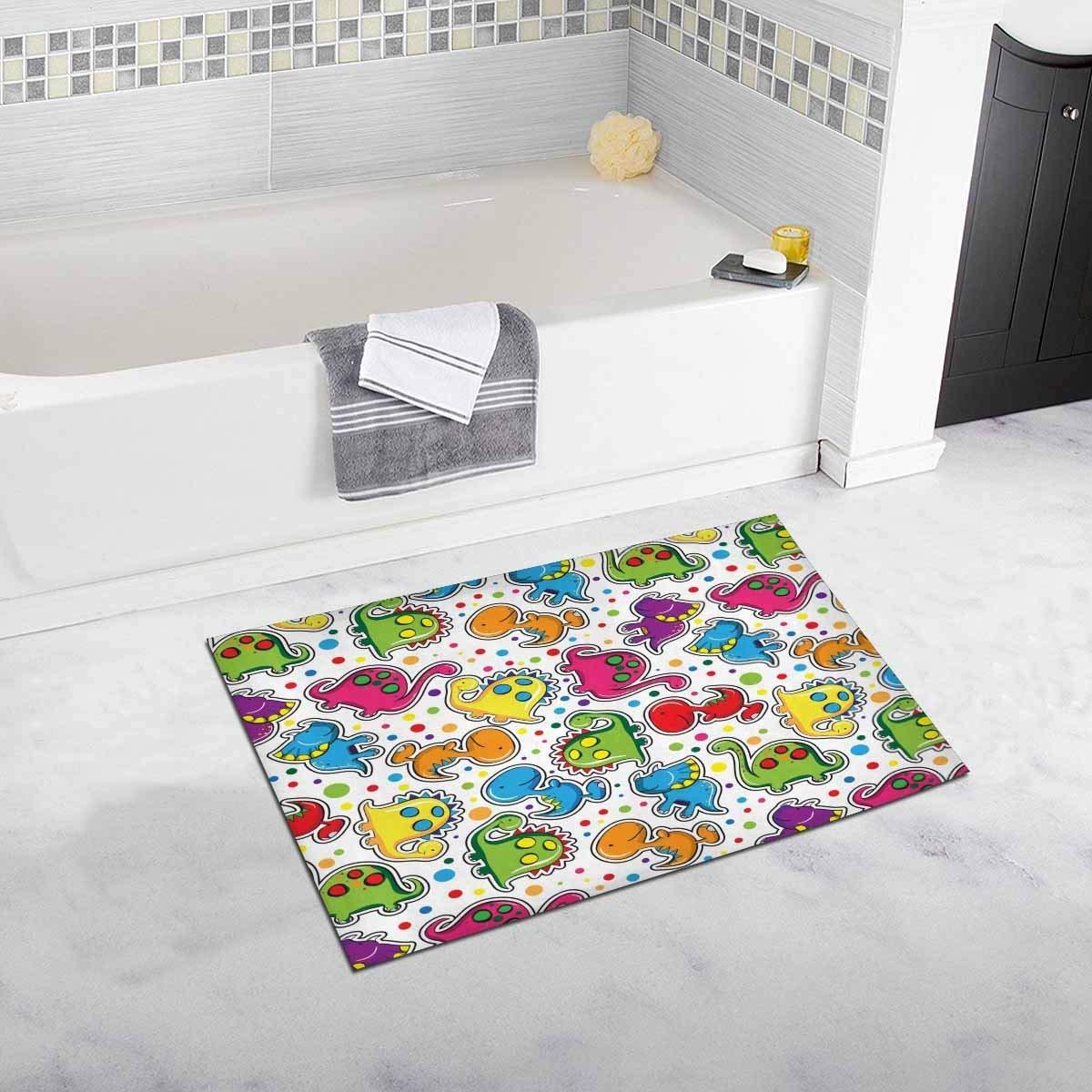 Hot Sale Cute Dinosaurs Non Slip Bathroom Mat Bath Rug, 20 W X 32 L ...