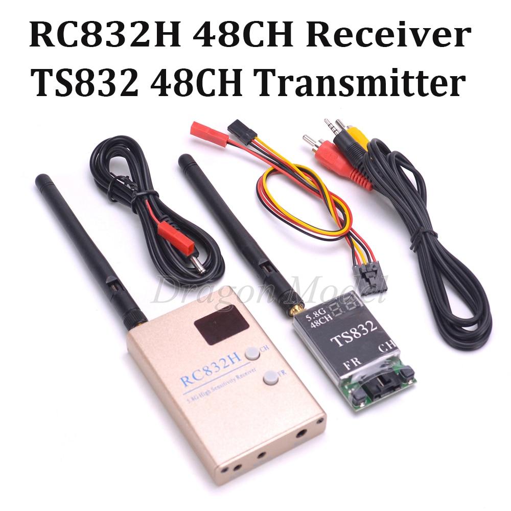 5,8 GHz FPV 5,8g 600 MW 48 canales TS832 RC832 RC832H inalámbrico AV transmisor y receptor Tx Rx conjunto para Quadcopter de Multicopter