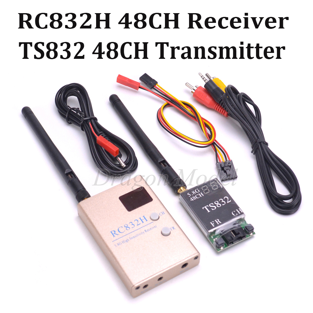 FPV 5.8G 5.8Ghz 600mW 48 Channels TS832 RC832 RC832H Wireless AV Transmitter and Receiver Tx Rx Set for Quadcopter Multicopter fpv 5 8g av video receiver rx w led display channel display rc832 32ch rp sma