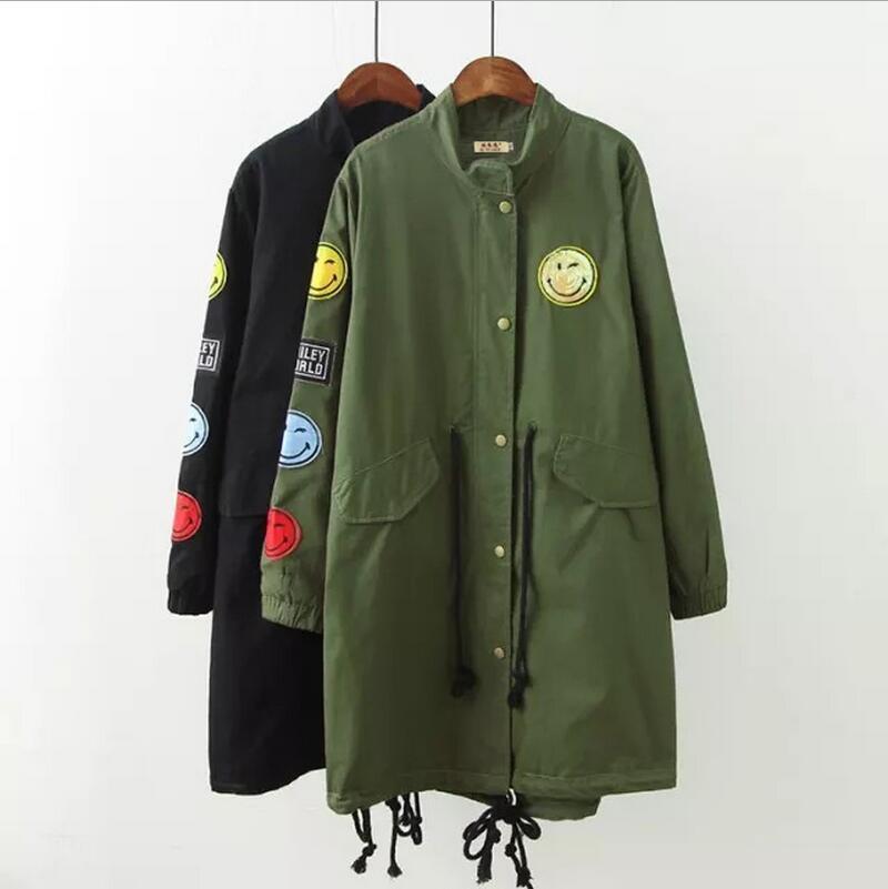 2017 spring autumn Army Green font b Jacket b font font b Women b font Basic