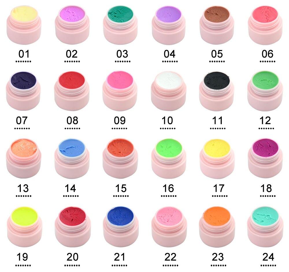 24pcs *1set GDCOCO 3D Modeling Gel Color Builder DIY Soak off UV LED Plasticine Gel Nail Design Sculpture Nail Salon Gel Varnish-in Nail Gel from Beauty & Health    1