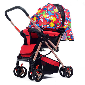 Lightweight Baby Strollers Folding Portable Four-wheeled Trolley Baby Carrier Cart Umbrella Stroller carrinho de bebe Pushchair 1