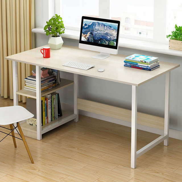 Desktop Computer Desk Laptop Table Bedroom Desk Office Desk Practical Steel  Frame MDF Computer Table Household
