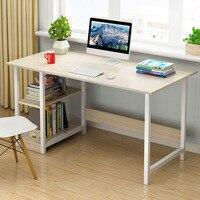 Desktop Computer Desk Laptop Table Bedroom Desk Office Desk Practical Steel Frame MDF Computer Table Household Furniture
