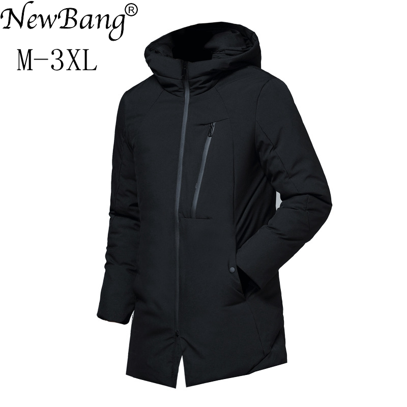 NewBang Mens Down Jacket Winter Feather Parka For Man Warm Thick Long Down Coat Male Windbreaker Waterproof Parkas