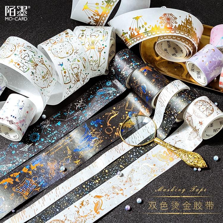 Stars Magic Foil Washi Masking Tape Set Decorative Craft Tape Great Glitter Washi Tape For Planners, Arts, Crafts, Diy