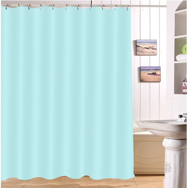 Lb 72 Light Blue Shower Curtains Waterproof Polyester Bathroom