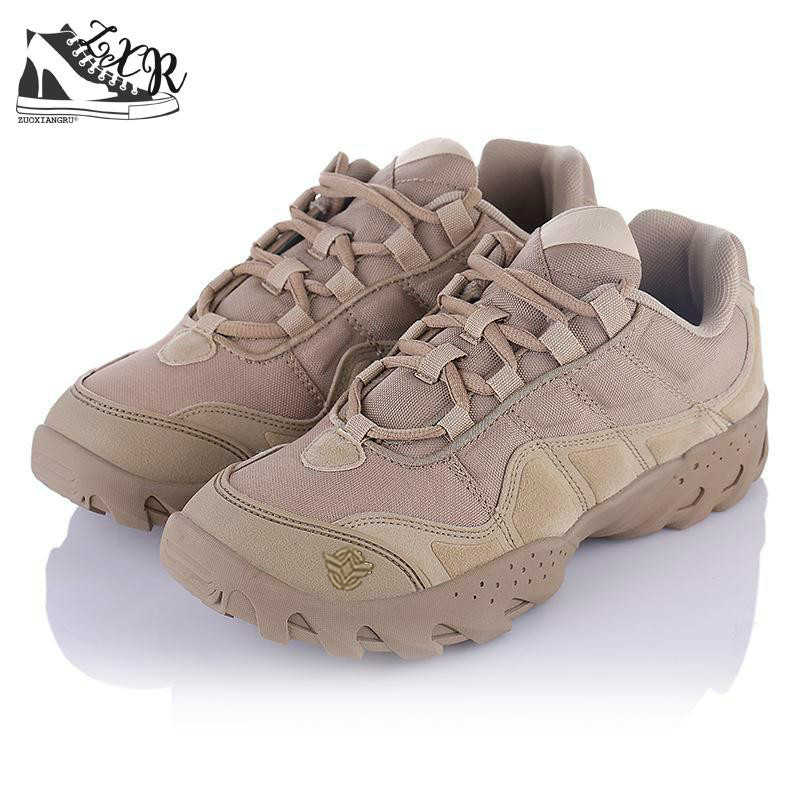 New Brand Military Tactical Combat Outdoor Sport Army Shoes Men Boots Desert Leather High Boots Men Ankle Boots Comfortable цена