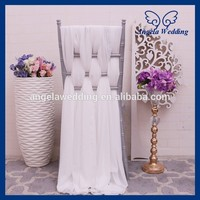 SH008B Wholesale Cheap Fancy Wedding Chiffon Chair Sash
